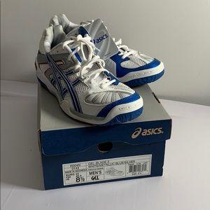 Asics Gel-Blade 3 White/Metallic Blue/Silver 8.5